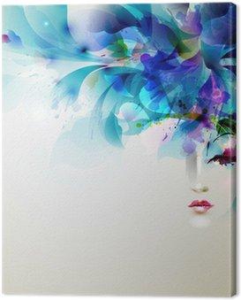 Cuadro en Lienzo Mujeres abstractas hermosas con elementos de diseño abstracto