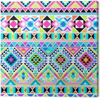Cuadro en Lienzo Neon impresión azteca ~ fondo sin fisuras