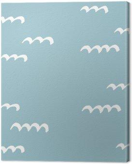 Cuadro en Lienzo Patrones de costura hecho a mano. Patrón para el uso en papel de regalo, tarjetas de felicitación y productos de regalo