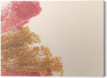 Cuadro en Lienzo Pequeñas flores decorativas con pintado a mano. espacio para el diseñador, el lugar de texto