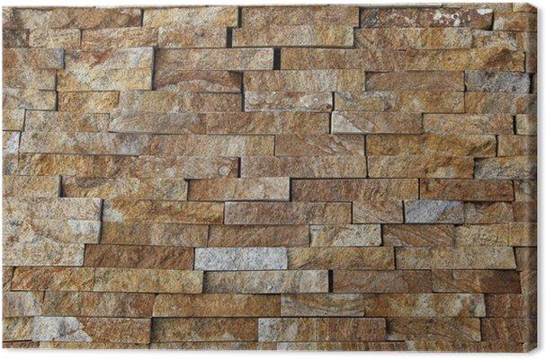 Cuadro en lienzo piezas de piedra natural azulejos para paredes pixers vivimos para cambiar - Azulejo imitacion piedra ...