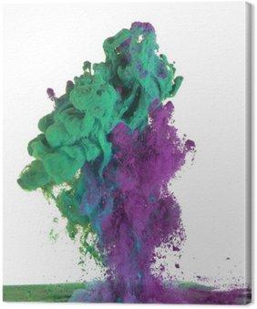 Cuadro en Lienzo Pintura verde y púrpura