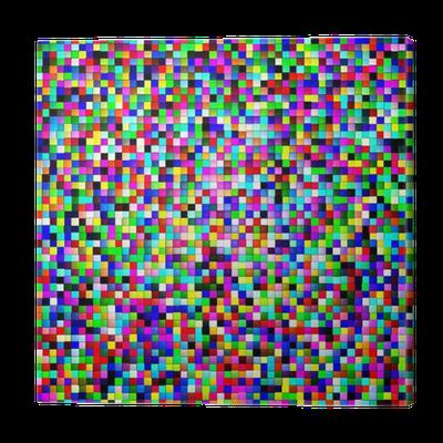 Cuadro en lienzo p xel de color 4 pixers vivimos para cambiar - Fotomurales pixel ...