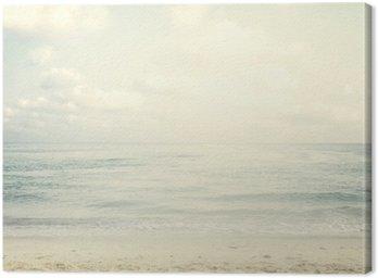 Cuadro en Lienzo Playa tropical de la vendimia en verano