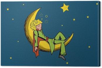Cuadro en Lienzo Principito sueño luna estrella