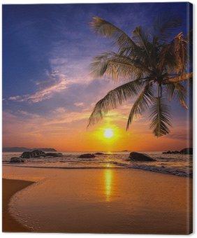 Cuadro en Lienzo Puesta de sol sobre el mar. Provincia Khao Lak en Tailandia