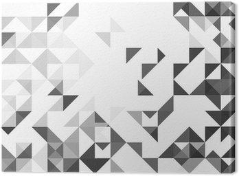 cuadro en lienzo resumen fondo blanco y gris estilo geomtrico