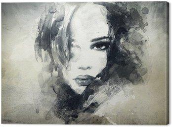 Cuadro en Lienzo Retrato de mujer abstracta