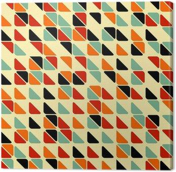 Cuadro en Lienzo Retro patrón abstracto sin fisuras con triángulos