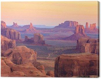 Cuadro en Lienzo Salida del sol en Hunts Mesa en el valle del monumento, Arizona, EE.UU.