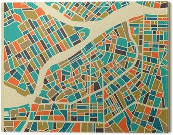 Cuadro en Lienzo San Petersburgo mapa vectorial. base de colorido diseño de la vendimia para la tarjeta de viaje, publicidad, regalo o un cartel.