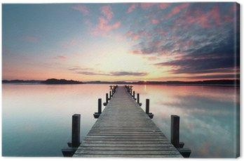 Cuadro en Lienzo Sommermorgen mit Sonnenaufgang