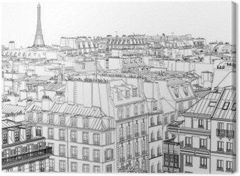 Cuadro en Lienzo Techos en París