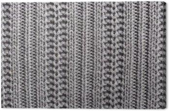 Cuadro en Lienzo Tejidos de lana de cerca la textura