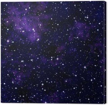 Cuadro en Lienzo Textura transparente simulando el cielo nocturno