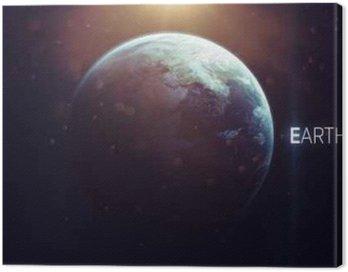 Cuadro en Lienzo Tierra - Alta resolución arte hermoso presenta planeta del sistema solar. Estos elementos de imagen proporcionada por la NASA