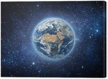 Cuadro en Lienzo Tierra y galaxia. Los elementos de esta imagen proporcionada por la NASA.