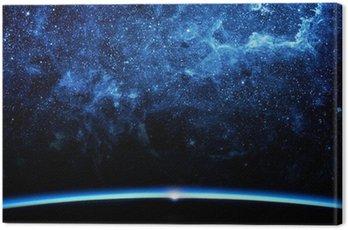 Cuadro en Lienzo Tierra y la galaxia