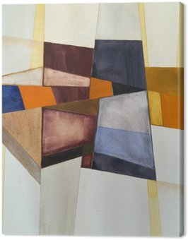 Cuadro en Lienzo Una acuarela abstracta modernista