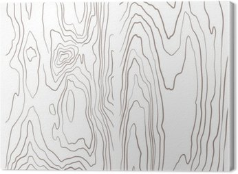 Cuadro en Lienzo Varios de recogida ilustración textura de madera en blanco y negro.