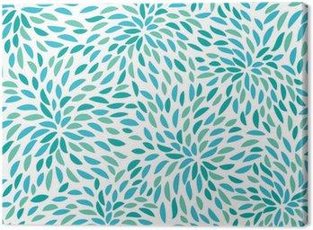 Cuadro en Lienzo Vector flower pattern. Seamless floral background.
