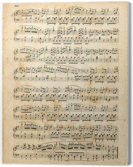 Cuadro en Lienzo Vieille partición de musique