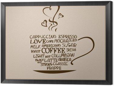 Cuadro Enmarcado Aislado icono de la taza de café