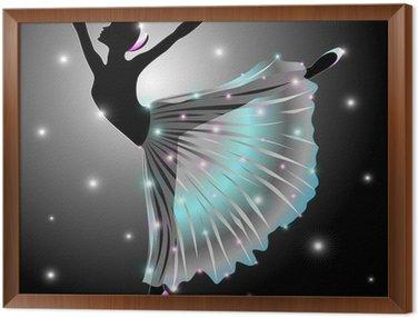 Cuadro Enmarcado Bailarina Danza Classica-Classic Star Dance Dancer-Vector