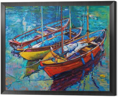 Cuadro Enmarcado Boats
