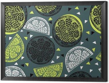 Cuadro Enmarcado Cítricos gráficos de patrones