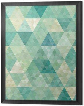 Cuadro Enmarcado De fondo sin fisuras con el ornamento geométrico abstracto