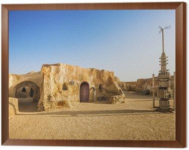 Cuadro Enmarcado Decoración de Star wars película en el desierto del Sahara, Túnez