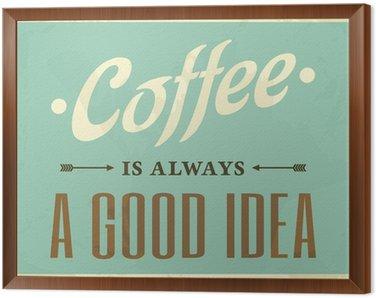 Cuadro Enmarcado Estilo Retro Café Poster