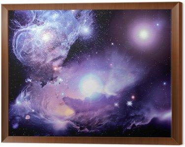 Cuadro Enmarcado Fantasy space nebula