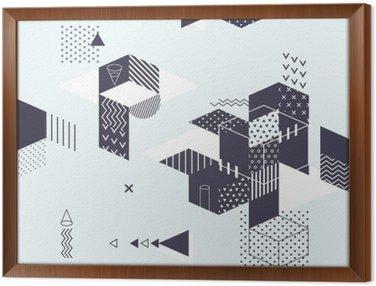 Cuadro Enmarcado Fondo geométrico abstracto moderno