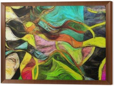 Cuadro Enmarcado Formas de remolino, Color y líneas