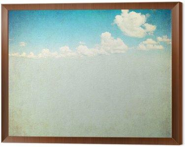 Cuadro Enmarcado Imagen retro del cielo nublado