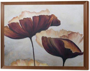 Cuadro Enmarcado La pintura abstracta de la amapola