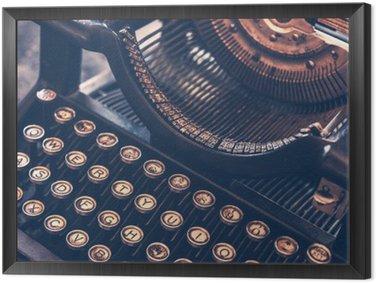Cuadro Enmarcado Máquina de escribir antigua