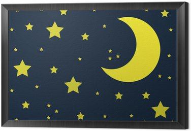 Cuadro Enmarcado Mond und Sterne