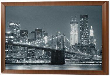 Cuadro Enmarcado New York Brooklyn Bridge