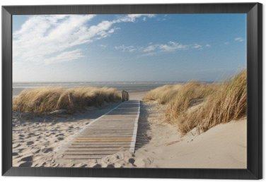 Cuadro Enmarcado Playa del Mar del Norte en Langeoog