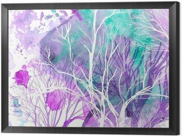 Cuadro Enmarcado Silueta abstracta de árboles