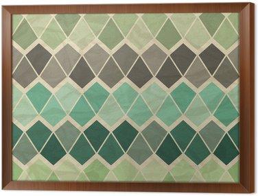 Cuadro Enmarcado Sin patrón geométrico retro