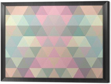 Cuadro Enmarcado Triángulo fondo de mosaico. fondo geométrico