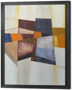 Cuadro Enmarcado Una acuarela abstracta modernista