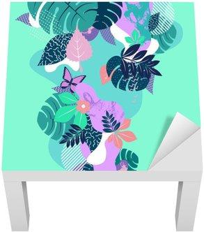 Dekal till Bordet Lack Abstrakt blom komposition. Platt bakgrund.