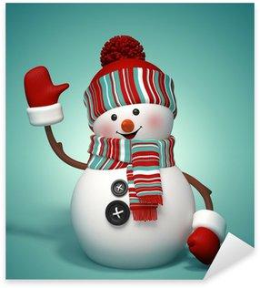 Pixerstick till Allt 3d lycklig snowman, vinterferie symbol illustration