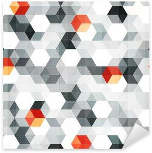 Pixerstick Dekor Abstrakta kuber sömlösa mönster med grunge effekt