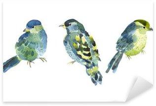 Pixerstick Dekor Akvarell fågelsamling för din design.